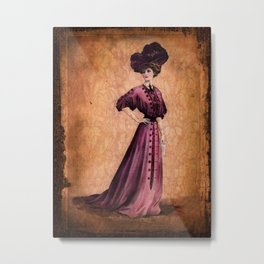 Girl in purple dress, Edwardian style  Metal Print