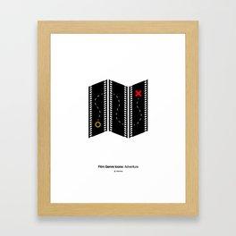 Adventure Film Genre Icon Framed Art Print