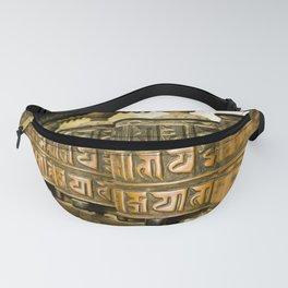 Tibetan Prayer Wheel Nepal Temple Fanny Pack