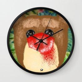 Bad Teddy Wall Clock