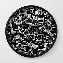 Black Blocks Rule Wall Clock