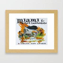 Vintage poster - Miami and Fort Lauderdale Framed Art Print