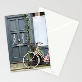 Pink Bicycle :: London Warren Mews Stationery Cards