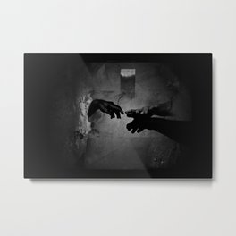 Silhouette merger Metal Print