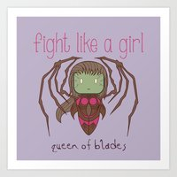 starcraft Art Prints featuring Fight Like a Girl - Starcraft's Infested Kerrigan by ~ isa ~