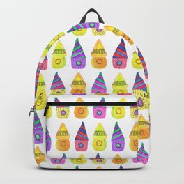Kids decor Cartoon illustration Child room Watercolor house pattern Newborn Backpack