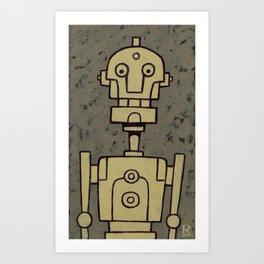 Robot Bob Art Print