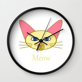 Siamese Cat, Meow Wall Clock