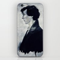 sherlock iPhone & iPod Skins featuring Sherlock by LindaMarieAnson