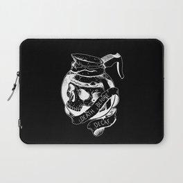 Death before decaf black Laptop Sleeve