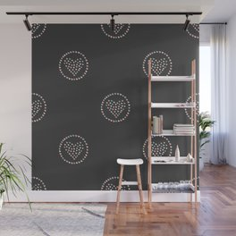 Cute Hearts Background. Seamless Pattern with hearts. Wall Mural