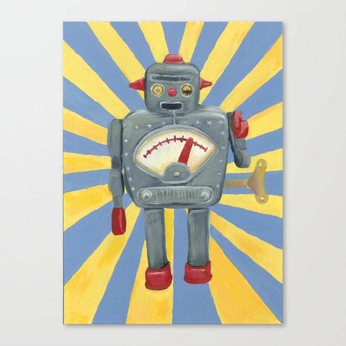 Cute robot toy Canvas Print