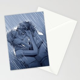 Supercat Kiss in the Rain BLUE Stationery Cards