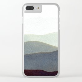Mountains Storm Clear iPhone Case