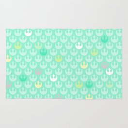 Rebel Alliance on Mint in Pastels Rug