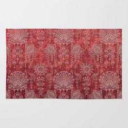 Victorian Potpourri - Faded Splendor Damask - RUBY Rug