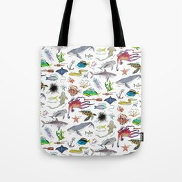 Under the Sea Alphabet Tote Bag