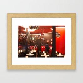 Red café PARIS Framed Art Print