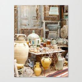 Market Djerba Tunisia Canvas Print