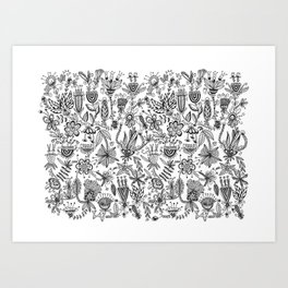 Floral Connection Art Print