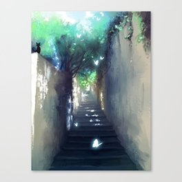 secret street and butterfly Canvas Print