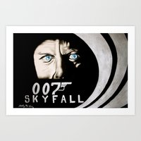 skyfall Art Prints featuring Skyfall by Kelly N. Gin