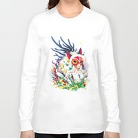 princess mononoke Long Sleeve T-shirts featuring Princess Mononoke by Stephanie Kao