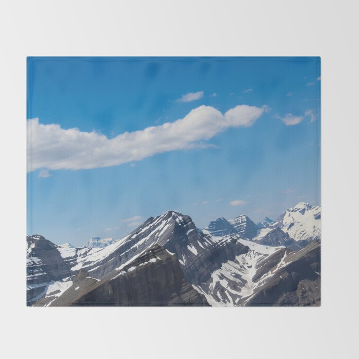 Dreamy Mountain Tops Throw Blanket