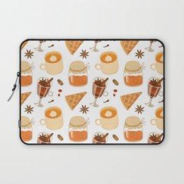 Sweet Orange Brown Coffee Pie Illustration Laptop Sleeve