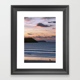 Polzeath Sunset Framed Art Print
