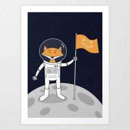 The Fox on the Moon Art Print