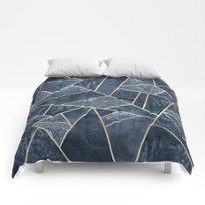 Soft Dark Blue Stone Comforters