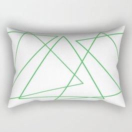 White & Green Rectangular Pillow