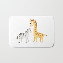 Safari Baby Zebra and Giraffe Bath Mat