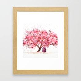 Tardis Tree Art Blossom Framed Art Print