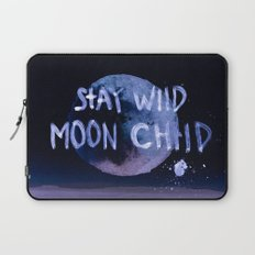 Stay wild moon child (purple) Laptop Sleeve