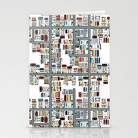 the neighbourhood Stationery Cards featuring Neighbourhood pattern by Rceeh