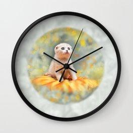 Lovely kitten Wall Clock