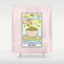 GUAC READING Shower Curtain