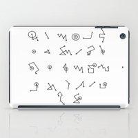 alphabet iPad Cases featuring ALPHABET  by Mansken
