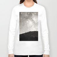 starry night Long Sleeve T-shirts featuring Starry Night  by Laura Ruth