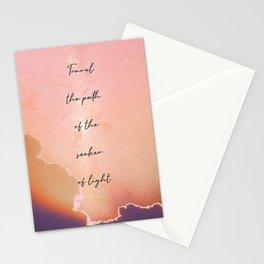 Seeker of Light   Lightworker Art   Spiritual Meditation Decor Stationery Cards