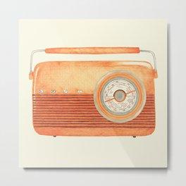 Radio Silence Metal Print