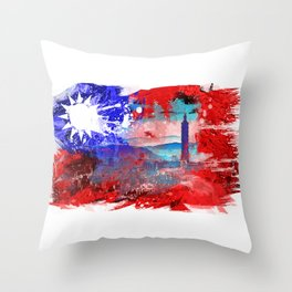 Taipei - Taiwan Throw Pillow