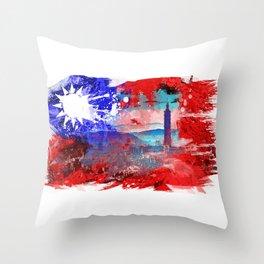 Taipei - Taiwan Throw Pillow