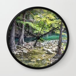 Cypress Trees Wall Clock