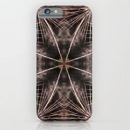 Beautiful golden fireworks effect surreal shaped symmetrical kaleidoscope iPhone Case