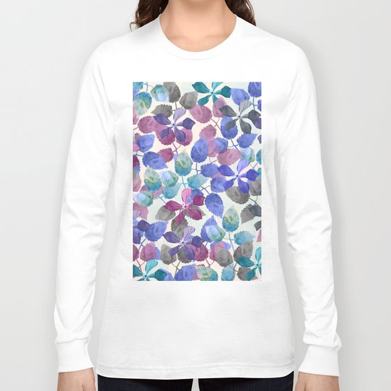watercolor Botanical garden II Long Sleeve T-shirt