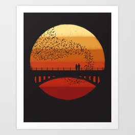 Into the Setting Sun Art Print