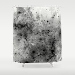 Space Without Colour - Black And White Painting Shower Curtain